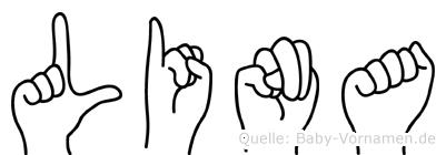 Lina im Fingeralphabet der Deutschen Gebärdensprache