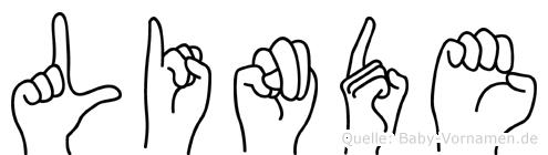 Linde im Fingeralphabet der Deutschen Gebärdensprache