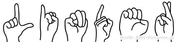 Linder in Fingersprache für Gehörlose