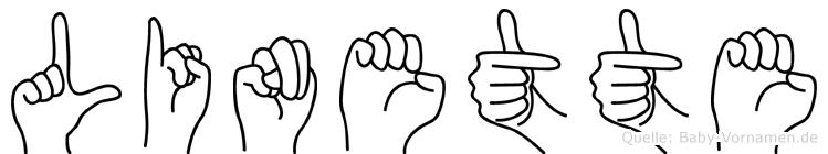 Linette in Fingersprache für Gehörlose