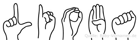 Lioba in Fingersprache für Gehörlose