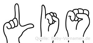 Lis im Fingeralphabet der Deutschen Gebärdensprache