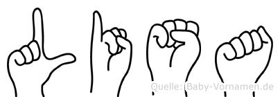 Lisa in Fingersprache für Gehörlose