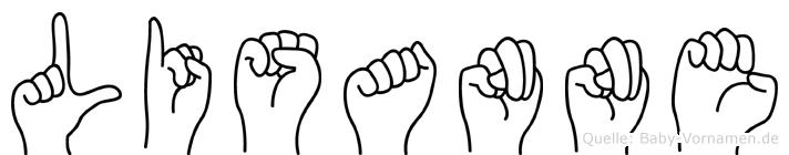 Lisanne in Fingersprache für Gehörlose