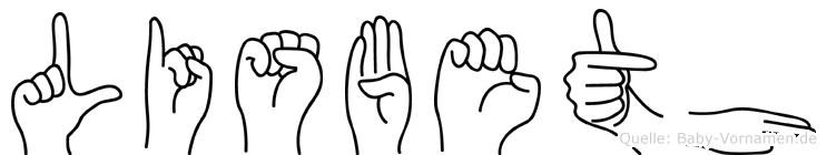 Lisbeth in Fingersprache für Gehörlose