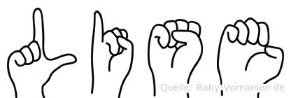 Lise in Fingersprache für Gehörlose