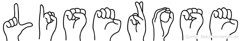 Liserose in Fingersprache für Gehörlose