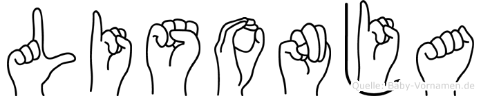 Lisonja in Fingersprache für Gehörlose