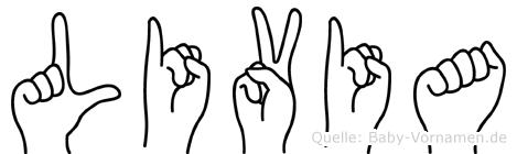 Livia in Fingersprache für Gehörlose