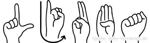 Ljuba in Fingersprache für Gehörlose