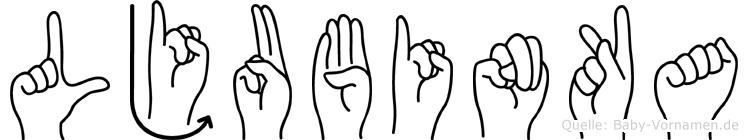Ljubinka in Fingersprache für Gehörlose