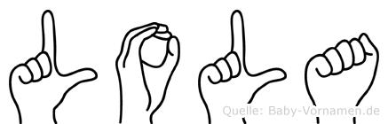 Lola in Fingersprache für Gehörlose