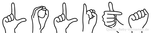 Lolita in Fingersprache für Gehörlose