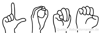 Lone in Fingersprache für Gehörlose