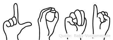 Loni im Fingeralphabet der Deutschen Gebärdensprache