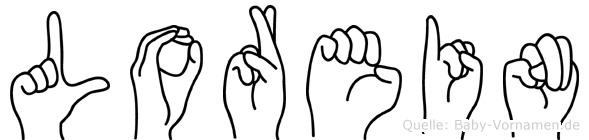 Lorein im Fingeralphabet der Deutschen Gebärdensprache