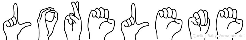 Lorelene im Fingeralphabet der Deutschen Gebärdensprache