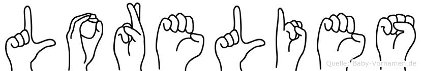 Lorelies im Fingeralphabet der Deutschen Gebärdensprache
