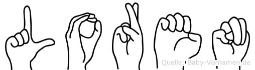 Loren im Fingeralphabet der Deutschen Gebärdensprache