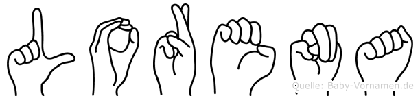 Lorena in Fingersprache für Gehörlose