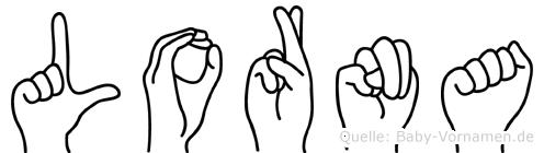Lorna in Fingersprache für Gehörlose