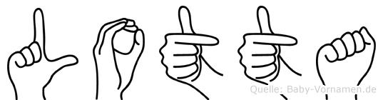Lotta in Fingersprache für Gehörlose