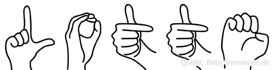 Lotte in Fingersprache für Gehörlose