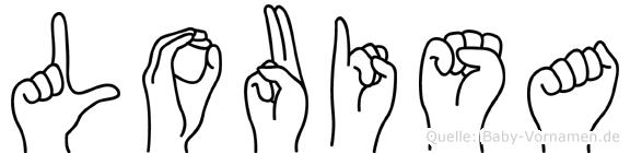Louisa in Fingersprache für Gehörlose