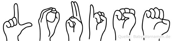 Louise in Fingersprache für Gehörlose