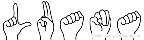 Luana im Fingeralphabet der Deutschen Gebärdensprache