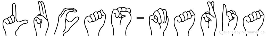 Lucas-Maria im Fingeralphabet der Deutschen Gebärdensprache