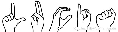 Lucia in Fingersprache für Gehörlose