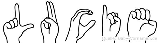 Lucie in Fingersprache für Gehörlose