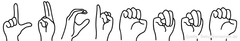 Lucienne in Fingersprache für Gehörlose