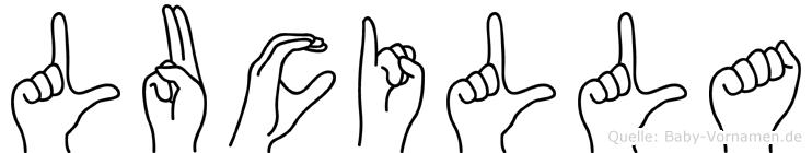 Lucilla in Fingersprache für Gehörlose