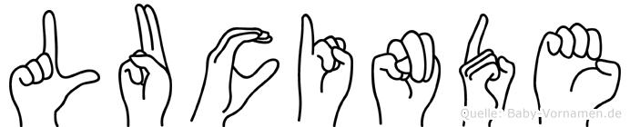 Lucinde in Fingersprache für Gehörlose