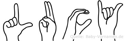 Lucy in Fingersprache für Gehörlose