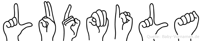 Ludmila im Fingeralphabet der Deutschen Gebärdensprache