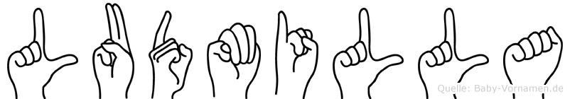 Ludmilla in Fingersprache für Gehörlose