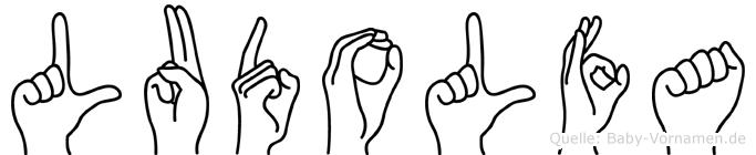 Ludolfa im Fingeralphabet der Deutschen Gebärdensprache
