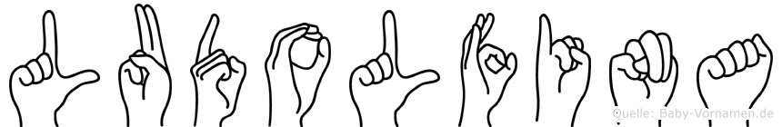 Ludolfina im Fingeralphabet der Deutschen Gebärdensprache