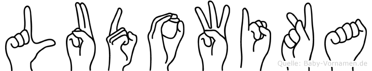 Ludowika im Fingeralphabet der Deutschen Gebärdensprache