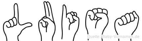 Luisa in Fingersprache für Gehörlose