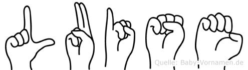 Luise im Fingeralphabet der Deutschen Gebärdensprache