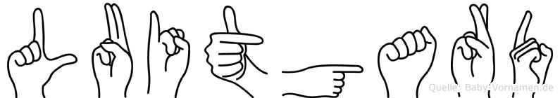 Luitgard im Fingeralphabet der Deutschen Gebärdensprache
