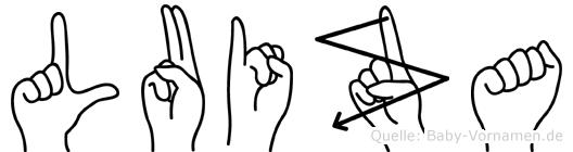Luiza im Fingeralphabet der Deutschen Gebärdensprache