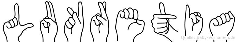 Lukretia in Fingersprache für Gehörlose