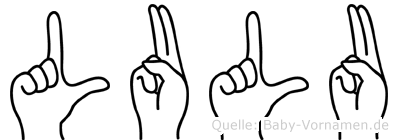 Lulu im Fingeralphabet der Deutschen Gebärdensprache