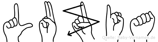 Luzia in Fingersprache für Gehörlose