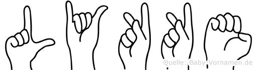 Lykke in Fingersprache für Gehörlose